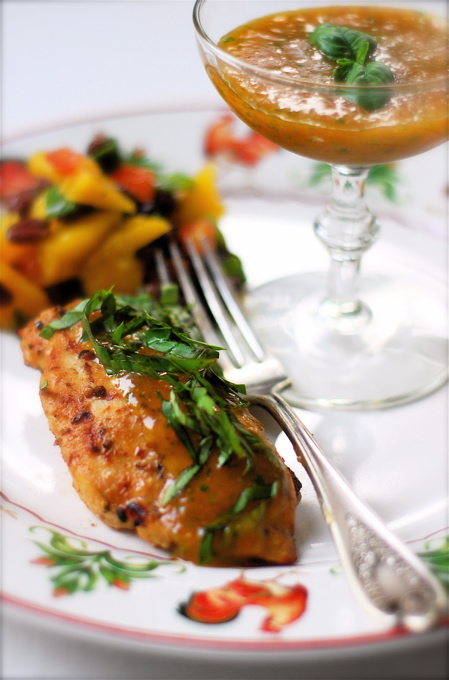 Basil Peach Bellini Chicken from ChinDeep